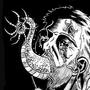 Inktober/Drawlloween #4 'Parasite Head' by CalebHarms