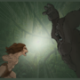 tarzan vs gorilla by thom-thom