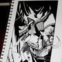 Inktober 13 - Stab Woman by Skaalk