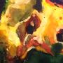 Puking Yellow Guy by linda-mota