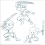 Ninja sketches by TheIYouMe