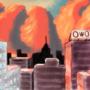 progress of sky painting