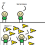 My first Cyanide & Happiness comic strip by ChickenYT