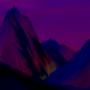 Starry Warm Mountain Landscape by vcareless