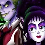 Beetlejuice and Lydia! by doublemaximus