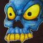 Blue skull by dogmuth-behedog