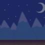 Mountainous Night Scenery
