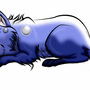 Blue Wolf by LunarVulpine