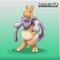 Mewtwo Dragonite fusion into Dragotu