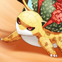 Sandsaur (Sandshrew-Ivysaur) by ArtificialFlower