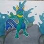vaporeon + mewtwo = aqua-mew