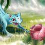 Ivytales (Ivysaur + Ninetales) by Pomarancza
