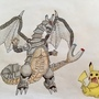 magnemite-charizard fusion by JacobsArt