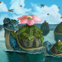 lapras + venusaur = laprasaur (the moving islands) by goyigal
