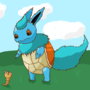 Flartle (Pokémon mashup challenge) (Squirtle and Flareon) by VeridianNerd