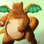charizard+snorlax= Charlax by LucaPerrone
