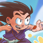 Goku and Nimbus by geogant