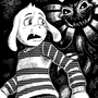 Asriel and Flowey by GrahamDrawsButts