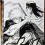 Ichigo vs Byakuya G Pen Master Study by isacss