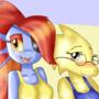 Alphys and Undyne