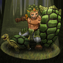 Hero and pet challenge (tank and tortoise) by LimeDaim97
