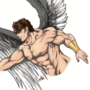 Shirtless Angel (I mean robe-less) by Fortis-Ferus
