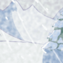 Blizzardy mountaintop background concept