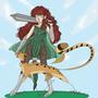 Knight and her pet cheetah by Taitanator