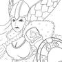 Viking Chick Lineart
