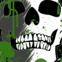 green skull wall paper by pandemicrazor