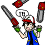 Ash Juggling Chainsaws by Iconock