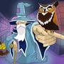 The Wizard and His Owl by AKwidzinski