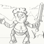 COTM knight WIP #5 by Littleninja02