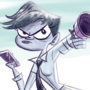 Blue cop lady with right thumb on the wrong side by KiwisBurntToast