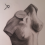 Nude Charcoal Statuette