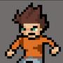 A boy standing by zetef