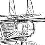 sci-fi Gunship Sketch by KenyonMC
