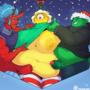 Under the mistletoe (animated)