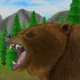 Bear in the wild - Jazza landscape background by Zurex