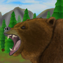 Bear in the wild - Jazza landscape background
