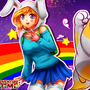 adventure time fionna and cake(with drawing video) by irvintiu