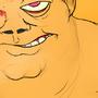 Giant Orange Guy's Training; Fan Art by tomek