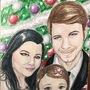 Family Christmas card portrait by amandadarko