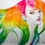 Rainbow girl by amandadarko