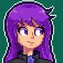 Akward Purple Gal