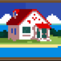 House on an Isle [Painting] by HypSandar