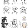 Raven comic concept sketches