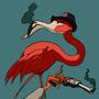 Flamingo Has Revolver