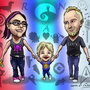 Family Caricature #2 by CalebHarms