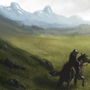 Landscape and horse by A93